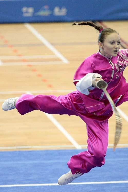 Фрагмент выступления Терещенко Анны на 3-м Чемпионате мира по ушу среди молодежи
