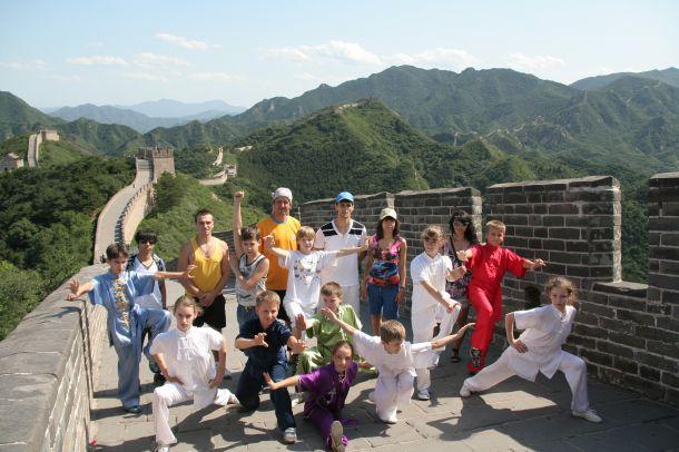 Сборная команда по ушу г.Одессы на Великой Китайской стене
