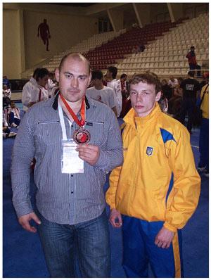Артем Кучко и Руслан Осипов на Чемпионате Европы по ушу 2010 года
