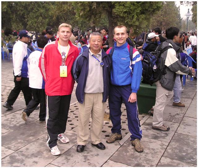 На фото: А. Соловьёв, У Бинь и А. Лихов