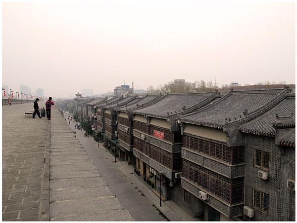 Вид со стены на город