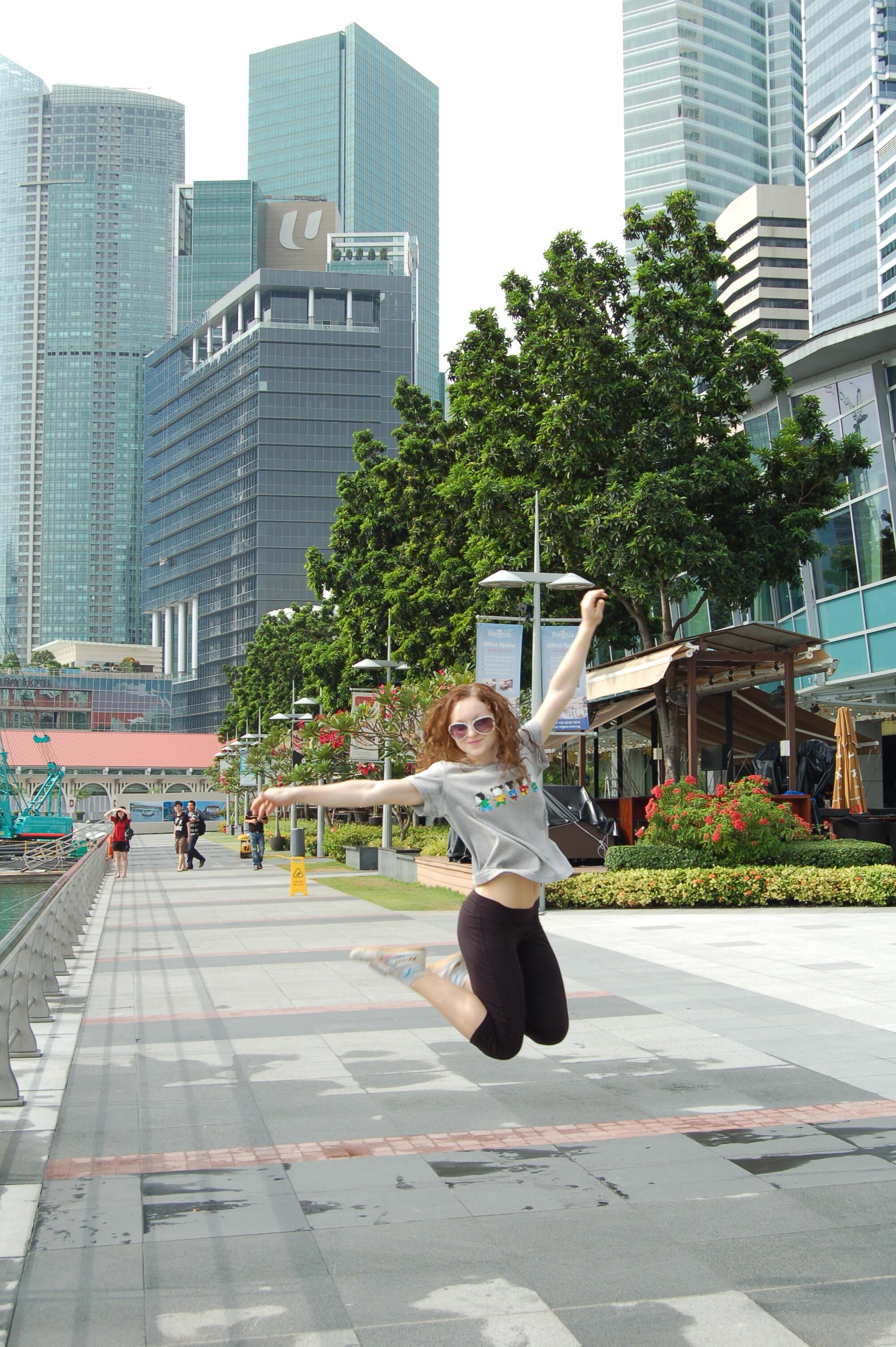 Аня Терещенко в Сингапуре