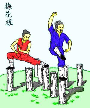 """Другое название стиля мэйхуачжуан - фуцзыцюань или """"кулак отца и сына"""""""