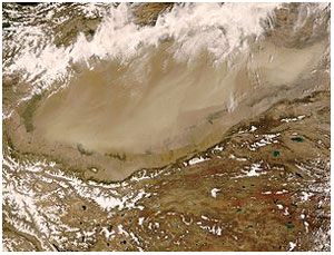 Такла-Макан. Вид из космоса