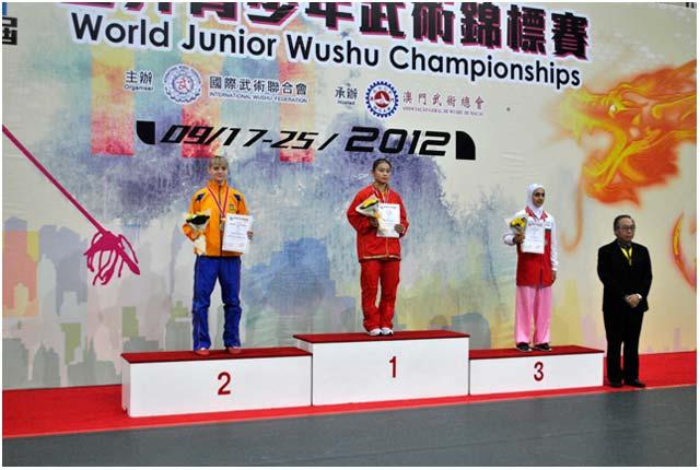 Награждение Татьяны Кондратьевой на 4-м Чемпионате мира по ушу среди молодежи