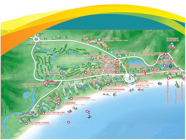 Карта бухты Ялунвань